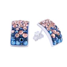 Сребърен Комплект Обеци И Медальон С Кристали От Swarovski® SKM126 Metallic Rose Gold