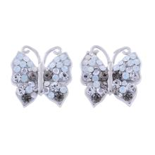 Сребърен комплект обеци и медальон с кристали от Swarovski® SKM158 Silver SHade