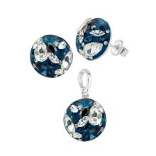 Сребърен Комплект Обеци И Медальон С Кристали От Swarovski® SKM121 Crystal and Peach