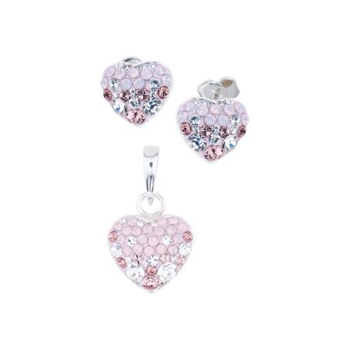 Сребърен комплект обеци и медальон с кристали от Swarovski® SKM152 Marilyn