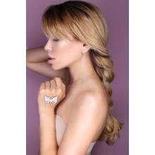 Сребърен медальон с кристали от Swarovski® SM223 Peach Gold