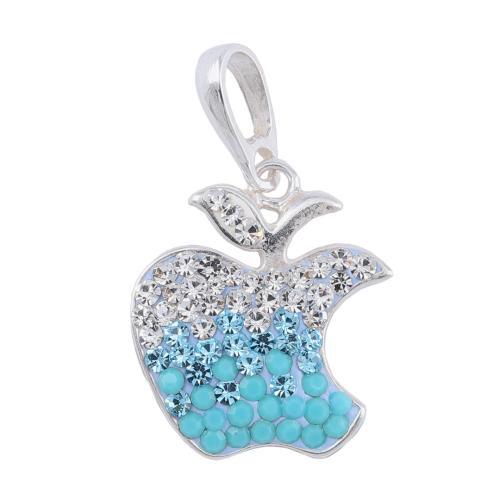 Сребърен медальон с кристали от Swarovski® SM225 Blue