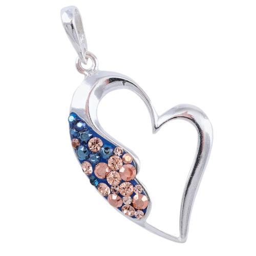 Сребърен медальон с кристали от Swarovski® SM226 Metallic Rose Gold