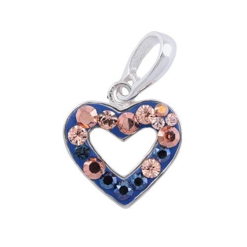 Сребърен медальон с кристали от Swarovski® SM285 Metallic Rose Gold