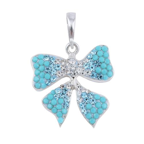 Сребърен медальон с кристали от Swarovski® SM273 Blue Drops