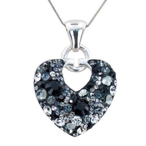Сребърен медальон с кристали от Swarovski® SM200 Late Night