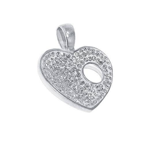 Сребърен медальон с кристали от Swarovski® SM202