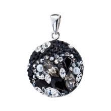 Сребърен медальон с кристали от Swarovski® SM204 Petrol