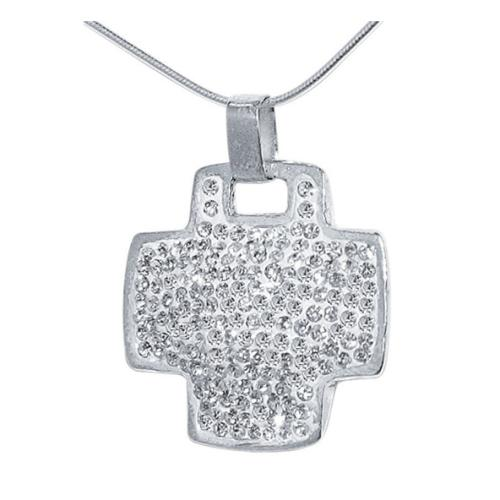 Сребърен медальон с кристали от Swarovski® SM209