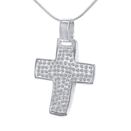 Сребърен медальон с кристали от Swarovski® SM210 Crystal