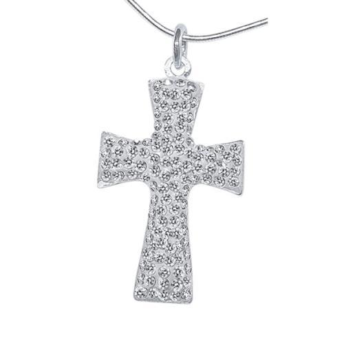 Сребърен медальон с кристали от Swarovski® SM211