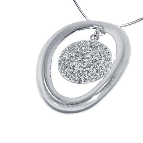Сребърен медальон с кристали от Swarovski® SM213