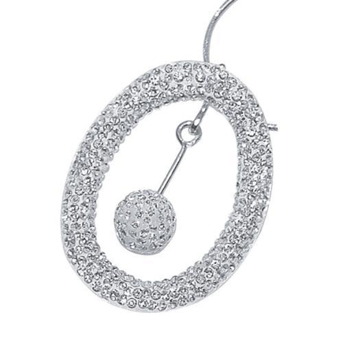 Сребърен медальон с кристали от Swarovski® SM214