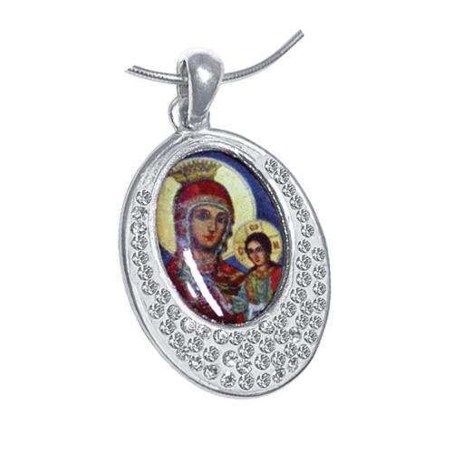 Сребърен медальон с кристали от Swarovski® SM215
