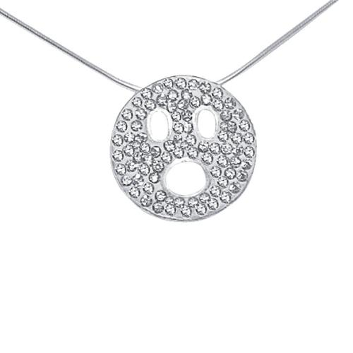 Сребърен медальон с кристали от Swarovski® SM216