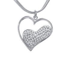 Сребърен медальон с кристали от Swarovski® SM217 Black Diamond