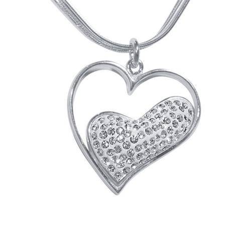 Сребърен медальон с кристали от Swarovski® SM217 Crystal