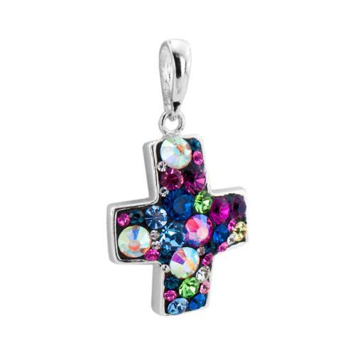 Сребърен Медальон С Кристали От Swarovski® SM219 Multicolor