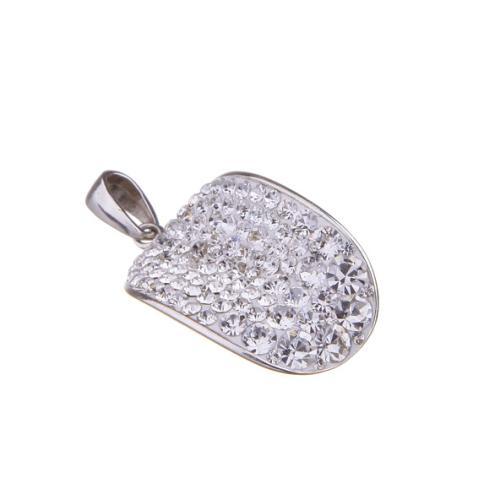 Сребърен медальон с кристали от Swarovski® SM220