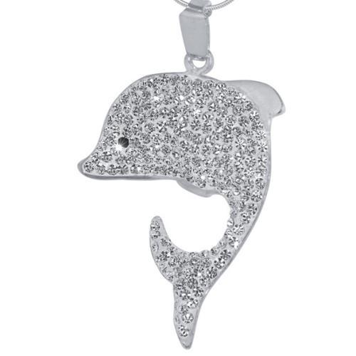 Сребърен медальон с кристали от Swarovski® SM221