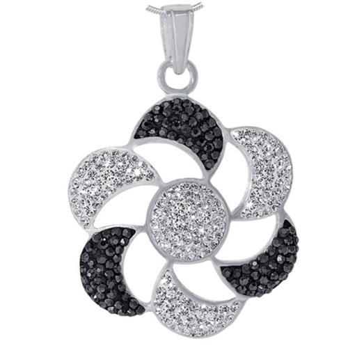 Сребърен медальон с кристали от Swarovski® SM222