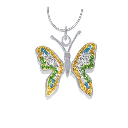 Сребърен медальон с кристали от Swarovski® SM224