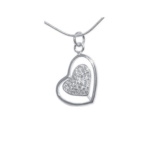 Сребърен медальон с кристали от Swarovski® SM227 Crystal