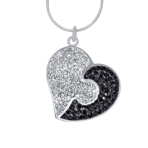 Сребърен медальон с кристали от Swarovski® SM229