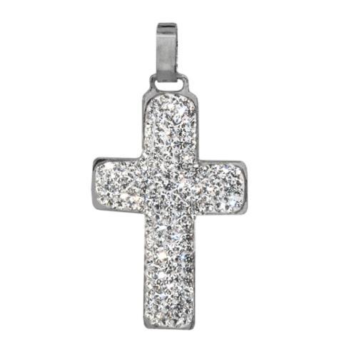 Сребърен медальон с кристали от Swarovski® SM230