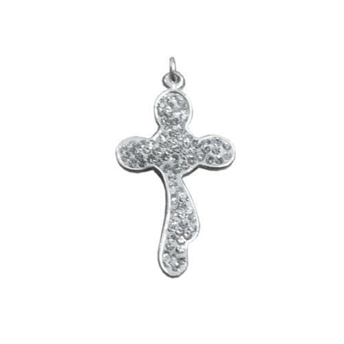 Сребърен медальон с кристали от Swarovski® SM231
