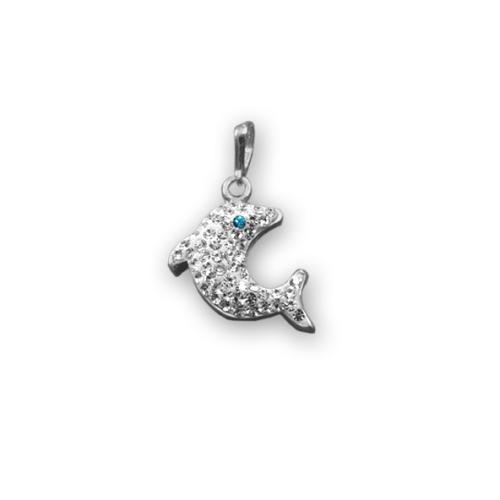 Сребърен медальон с кристали от Swarovski® SM234