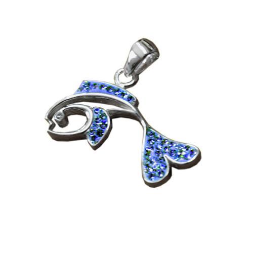 Сребърен медальон с кристали от Swarovski® SM235