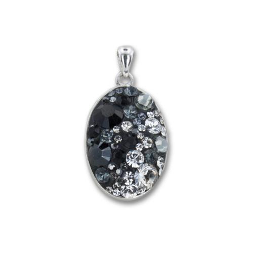 Сребърен медальон с кристали от Swarovski® SM238 Late Night