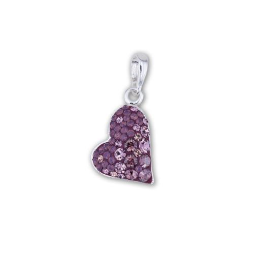 Сребърен медальон с кристали от Swarovski® SM239 Butterfly Bush