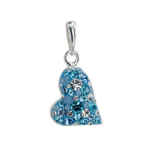 Сребърен Медальон С Кристали От Swarovski® SM239 Deep Blue