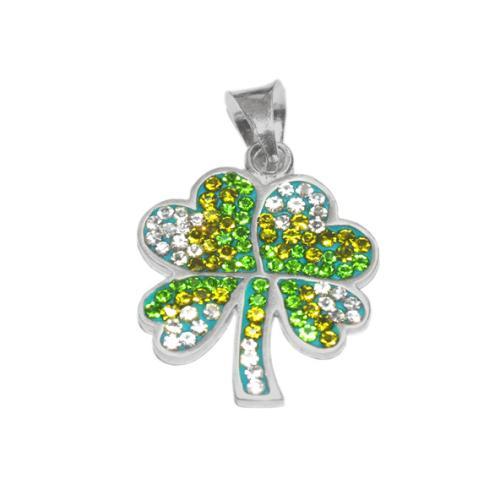 Сребърен медальон с кристали от Swarovski® SM240