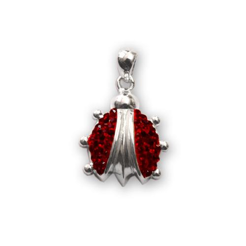 Сребърен медальон с кристали от Swarovski® SM241