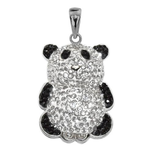 Сребърен медальон с кристали от Swarovski® SM243