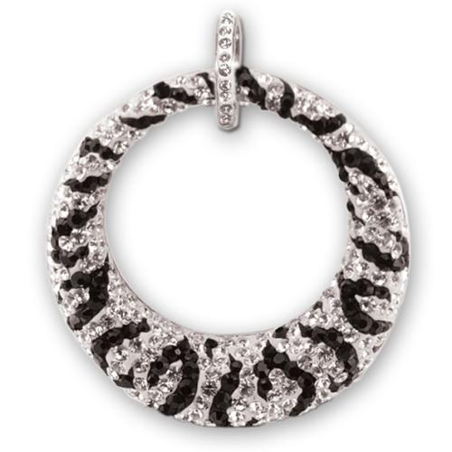 Сребърен медальон с кристали от Swarovski® SM245