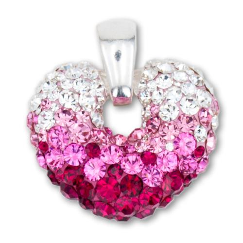 Сребърен медальон с кристали от Swarovski® SM247 Bold Rose