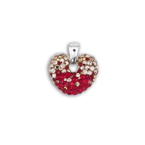Сребърен медальон с кристали от Swarovski® SM247 Golden Red