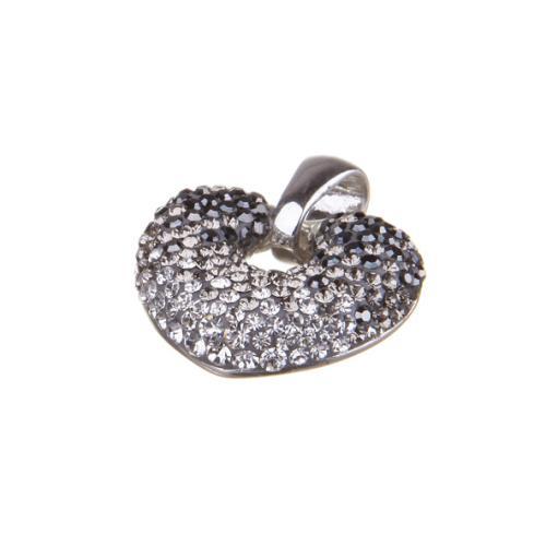 Сребърен медальон с кристали от Swarovski® SM247 Hematite, Steel and Crystal