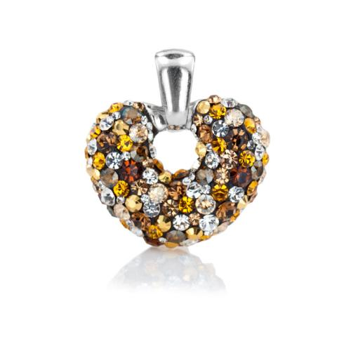 Сребърен медальон с кристали от Swarovski® SM247 Monte Carlo