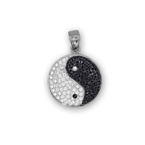 Сребърен медальон с кристали от Swarovski® SM251