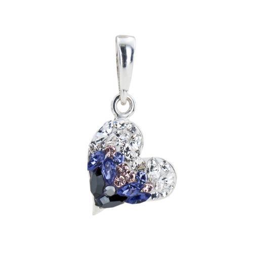 Сребърен медальон с кристали от Swarovski® SM253 Corsette