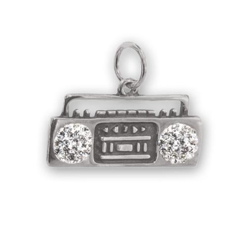 Сребърен медальон с кристали от Swarovski® SM254