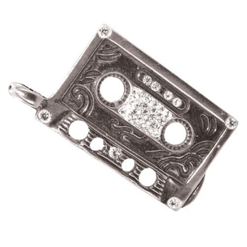 Сребърен медальон с кристали от Swarovski® SM255