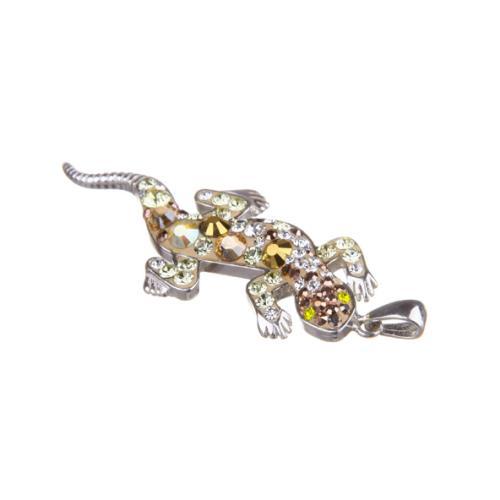 Сребърен медальон с кристали от Swarovski® SM256