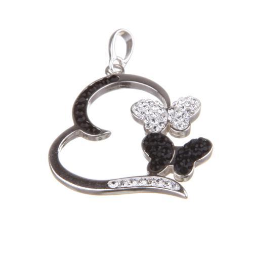 Сребърен медальон с кристали от Swarovski® SM257