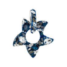 Сребърен медальон с кристали от Swarovski® SM260 Crystal